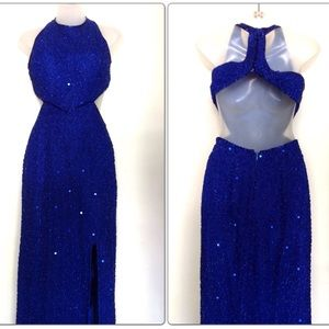 Dresses & Skirts - Beaded Blue Gown